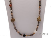 7-8mm coffee freshwater pearl black agate and jewelry accessories necklace