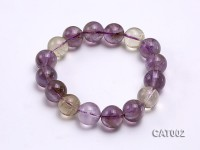13mm Round Ametrine Beads elasticated Bracelet