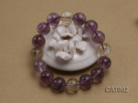 13mm Round Ametrine Beads elasticated Bracelet