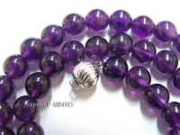 8mm Round Amethyst Beads Necklace