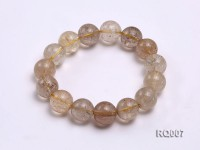 13-14mm Rutilated Quartz Beads Elastic Bracelet