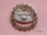 11mm Rutilated Quartz Beads Elastic Bracelet