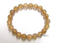 9mm Rutilated Quartz Beads Elastic Bracelet