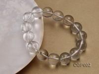 15mm Round Green Phantom Crystal Beads Elastic Bracelet