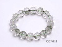 13mm Round Green Phantom Crystal Beads Elastic Bracelet