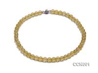 8mm Round Citrine Beads Necklace
