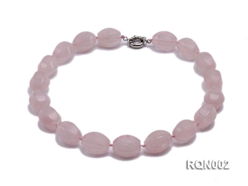 18x25mm Oval Rose Quartz Beads Necklace