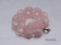 18x25mm Oval Rose Quartz Beads Necklace