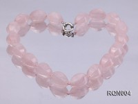 15x22mm Irregular Rose Quartz Beads Necklace