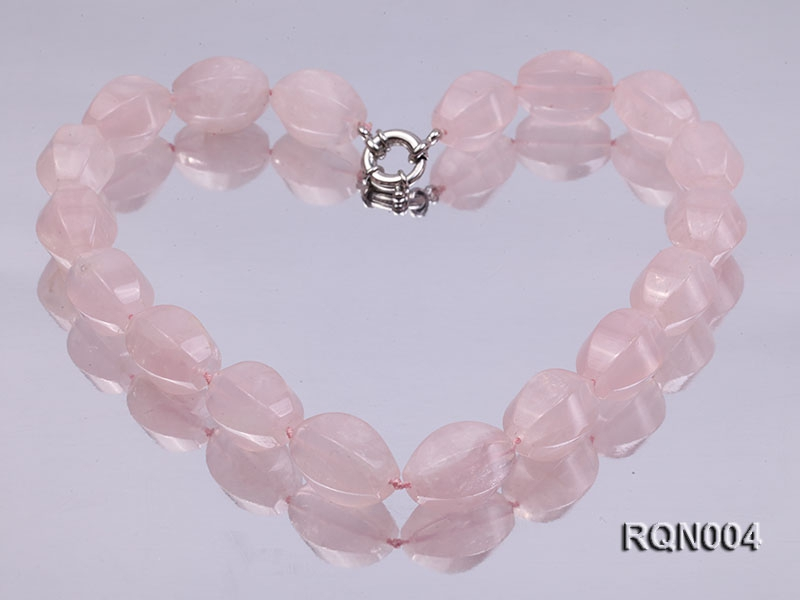 15x22mm Irregular Rose Quartz Beads Necklace