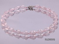 13x18mm Drop-shaped Faceted Rose Quartz Beads Necklace