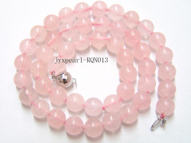 8mm Round Rose Quartz Beads Necklace