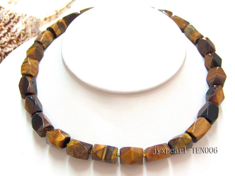 9x14mm Irregular Tiger Eye Pieces Necklace