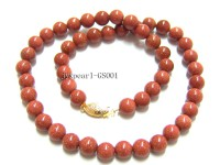 8mm Round Goldstone Beads Necklace