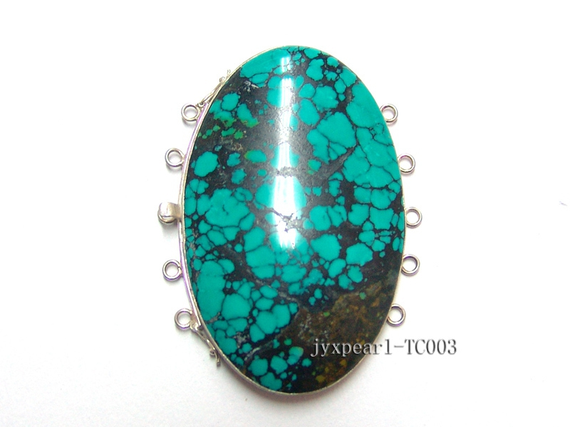 47x73mm Multi-Strand Sterling Silver Turquoise Clasp