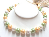 14mm round multicolor seashell necklace