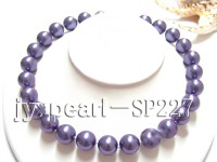 16mm round purple seashell pearl necklace