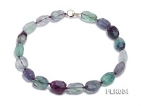 16x25mm Oval Fluorite Beads Necklace