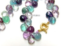 9x11mm Drop-shaped Fluorite Beads Necklace