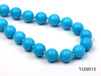 12mm vibrant blue round Turquoise Necklace