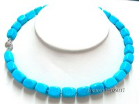 9x13mm blue rectangular turquoise Necklace