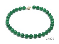 12mm Round Green Malay Jade Necklace