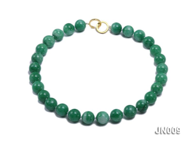 12mm Round Green Korean Jade Necklace