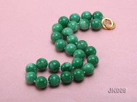 12mm Round Green Korean Jade Necklace