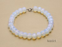 14x20mm Flat Opalescent Moonstone Beads Necklace