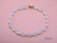10x19mm Oval Opalescent Moonstone Beads Necklace