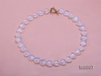 14mm Heart-shaped Opalescent Moonstone Beads Necklace