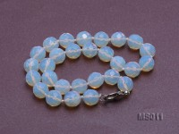 13mm Round Opalescent Faceted Moonstone Beads Necklace