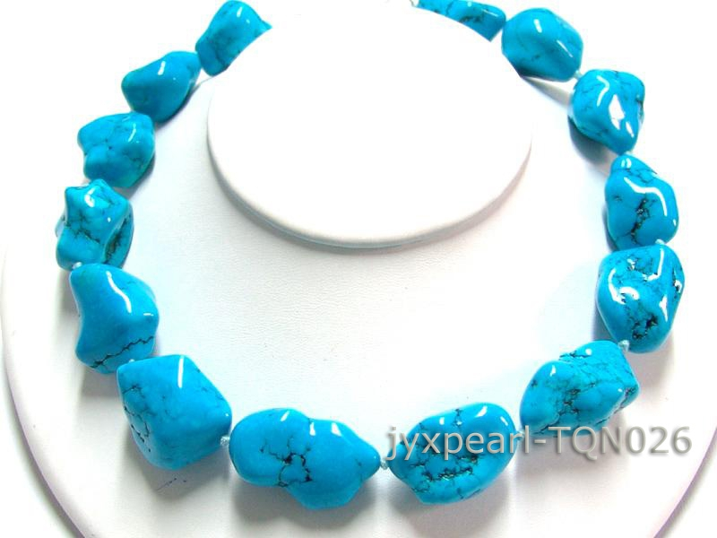 24-35mm blue irregular Turquoise Necklace