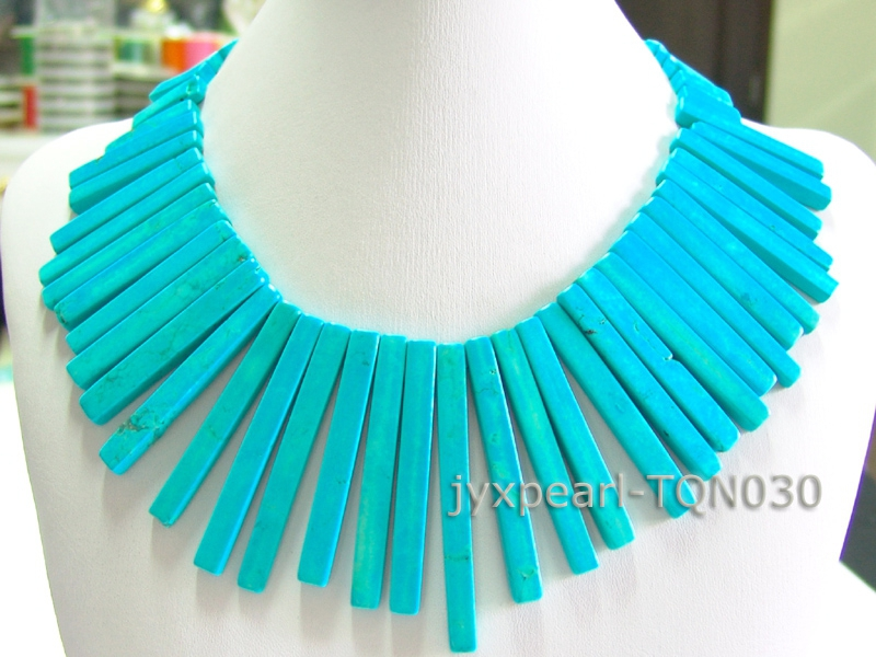 7×20-7x70mm blue Rectangular Turquoise Necklace