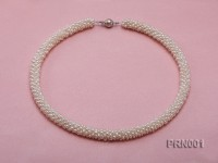 Classic 6-7mm White Round Cultured Freshwater Pearl Necklace