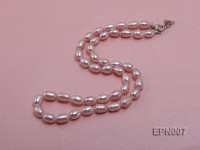 6-7mm Elliptical Lavender Freshwater Pearl Necklace
