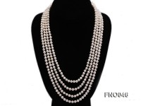6-7mm natural white round freshwater pearl necklace