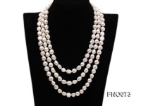 10-12mm natural white baroque freshwater pearl opera necklace