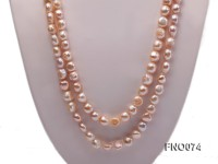 10-11mm natural lavender baroque freshwater pearl necklace