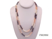 7-8mm multicolor rice freshwater pearl necklace
