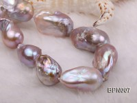 Classic 15×30-18.5x35mm Lavender Baroque Freshwater Pearl Necklace