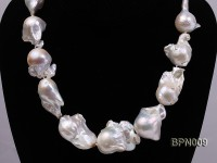 Classic 18×21-25x35mm White Baroque Freshwater Pearl Necklace