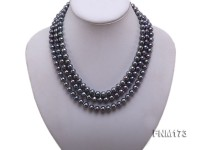 3 strand 8-9mm black freshwater pearl necklace