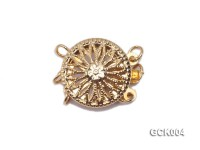 12.5mm Three-strand Flower-shaped Gilded Clasp