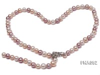 Classic 8-8.5mm AAA Multi-color Cultured Freshwater Pearl Necklace