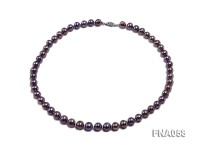 Classic 8-8.5mm AAA Lavender Round Cultured Freshwater Pearl Necklace