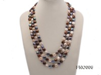 12-13mm multicolor coin freshwater pearl necklace