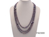 7-8mm black rice freshwater pearl with coin pearl necklace