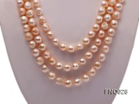 8*12mm natural pink baroque freshwater pearl necklace