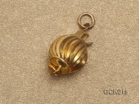 8mm Single-strand Lantern-shaped Gilded Clasp